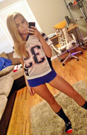 hot blond cheerleader